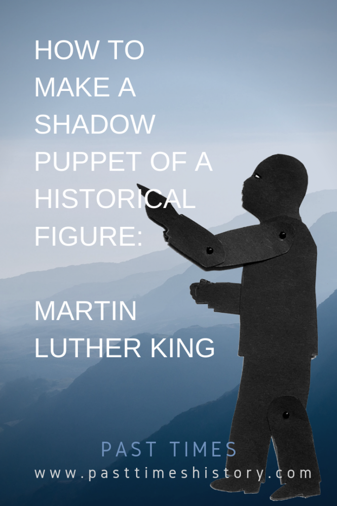 Shadow puppet of Martin Luther King (I have a Dream)