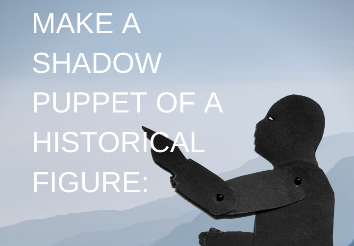 Shadow puppet of Martin Luther King