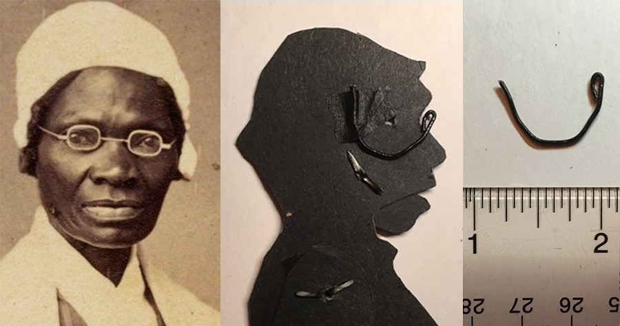 Image of Sojourner Truth as shadow puppet with glasses
