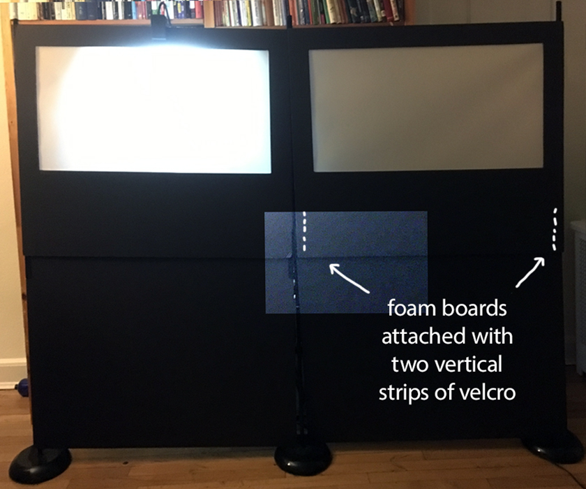 double foam board shadow puppetry screen