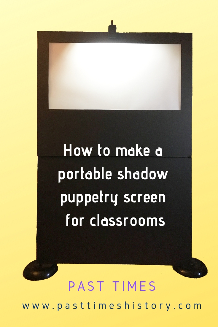 instructions how to make a portable shadow puppetry screen