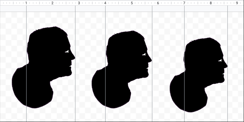 Different sizes silhouettes in Google Drawings